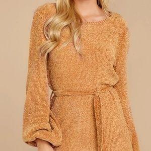 Red Dress Boutique Dresses - Light Camel Chenille Sweater Dress